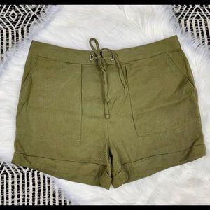 Banana Republic Dressy  Army Green Shorts 4